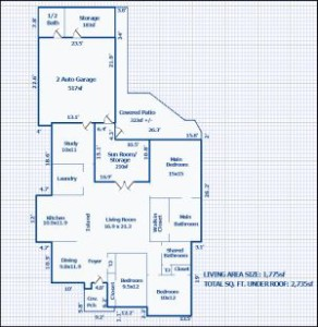 Baton Rouge Home Appraiser Sketch Floor Plan
